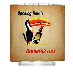 Opening Time Is Guinness Time Shower Curtain by Mark Rogan