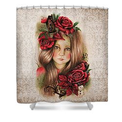 Merry Shower Curtain by Sheena Pike