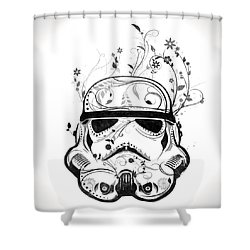 Flower Trooper Shower Curtain
