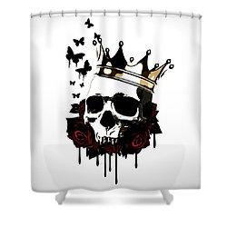 El Rey De La Muerte Shower Curtain by Nicklas Gustafsson