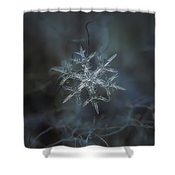 Shower Curtain featuring the photograph Snowflake Photo - Rigel by Alexey Kljatov