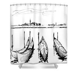 Venice Shower Curtain by Andrew Cravello