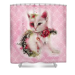Love Is In The Air Shower Curtain by Sheena Pike
