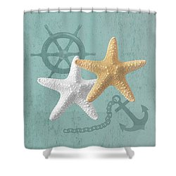 Nautical Stars Shower Curtain