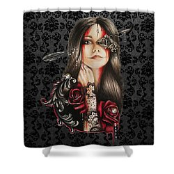 Self Affliction Shower Curtain by Sheena Pike