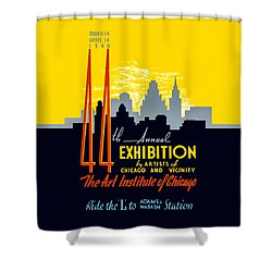 44th Annual Exhibition By Artists Of Chicago And Vicinity Shower Curtain