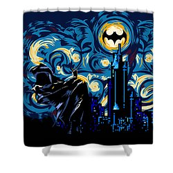 Starry Knight Shower Curtain by Three Second