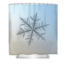 Shower Curtain featuring the photograph Snowflake Photo - Silverware by Alexey Kljatov
