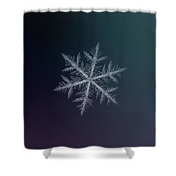 Shower Curtain featuring the photograph Snowflake Photo - Neon by Alexey Kljatov