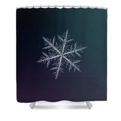 Snowflake Photo - Neon Shower Curtain