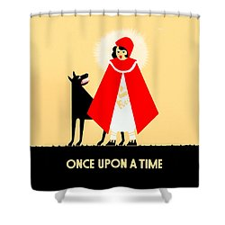 Vintage Little Red Riding Hood Poster Shower Curtain