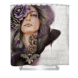 Shower Curtain featuring the drawing Sweet Sorrow by Sheena Pike