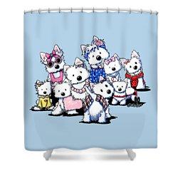 International Westie Women Shower Curtain