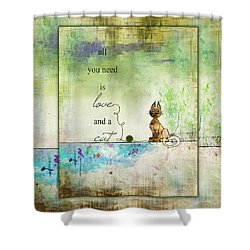 Love And A Cat Ginkelmier Shower Curtain