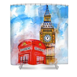 London Dreaming Shower Curtain by Mark E Tisdale