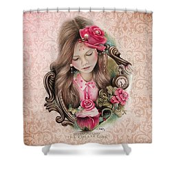 Shower Curtain featuring the drawing Make A Wish  by Sheena Pike