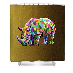 Wild Rainbow Shower Curtain