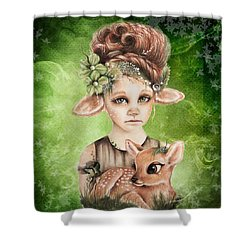 Faline - Only Friend In The World Collection Shower Curtain by Sheena Pike
