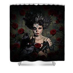 Darkside Sugar Doll Shower Curtain by Shanina Conway