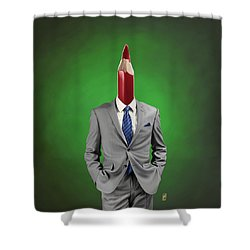 Shower Curtain featuring the drawing Neck by Rob Snow