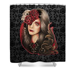 Shower Curtain featuring the mixed media Creep  by Sheena Pike