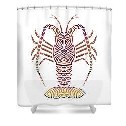 Tribal Caribbean Lobster Shower Curtain