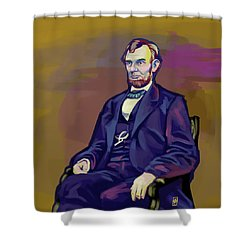 Shower Curtain featuring the drawing Abe by Rob Snow