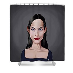 Shower Curtain featuring the drawing Celebrity Sunday - Liv Tyler by Rob Snow