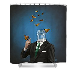Shower Curtain featuring the drawing Jar by Rob Snow