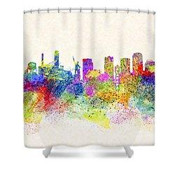 Birmingham Alabama Skyline Art Shower Curtain by Mark E Tisdale