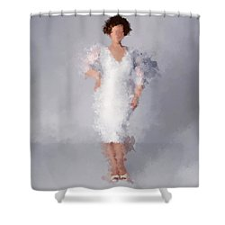 Shower Curtain featuring the digital art Tiffany by Nancy Levan