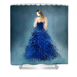 Shower Curtain featuring the digital art Angelica by Nancy Levan