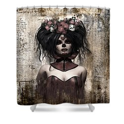 La Catrina Shower Curtain by Shanina Conway