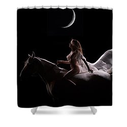 Shower Curtain featuring the photograph Midnight Sojourn by Dario Infini