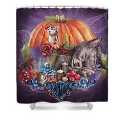 Dreaming Of Autumn Shower Curtain by Sheena Pike