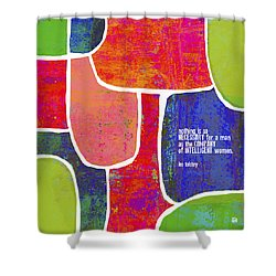 Shower Curtain featuring the painting Intelligent Women by Lisa Weedn