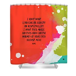 Shower Curtain featuring the painting This Music by Lisa Weedn