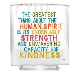The Human Spirit Shower Curtain