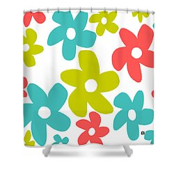 Shower Curtain featuring the painting Oh Happy Day by Lisa Weedn