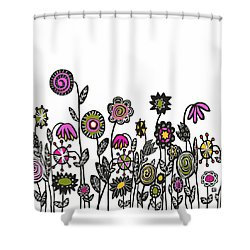 Shower Curtain featuring the painting Hippie Garden by Lisa Weedn