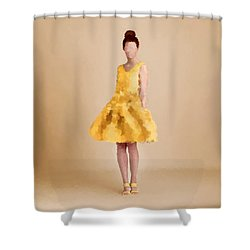 Shower Curtain featuring the digital art Emma by Nancy Levan