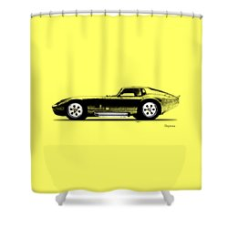 The Daytona 1965 Shower Curtain by Mark Rogan