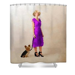 Shower Curtain featuring the digital art Christina by Nancy Levan