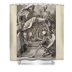 Bernardino Genga - Allegorical Emblems Of Death Shower Curtain