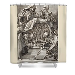 Bernardino Genga - Allegorical Emblems Of Death Shower Curtain