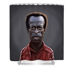 Celebrity Sunday - Miles Davies Shower Curtain by Rob Snow