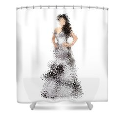 Shower Curtain featuring the digital art Collette by Nancy Levan