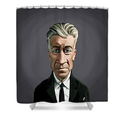 Shower Curtain featuring the drawing Celebrity Sunday - David Lynch by Rob Snow