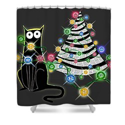 Paper Christmas Tree Shower Curtain
