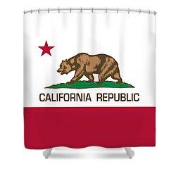 California Republic State Flag Authentic Version Shower Curtain
